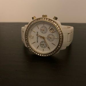 White & gold Micheal Kors watch